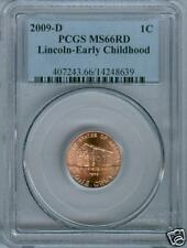2009-D MS66 LINCOLN EARLY CHILDHOOD PCGS MS-66 RED