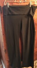 Victoria's Secret Yoga Pants Size M Black With Gold Wings Fold Over Waist