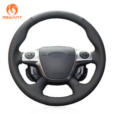NEW Black Artificial Leather Steering Cover for Ford Focus 3 KUGA Escape C-MAX