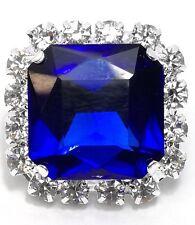 1 PEZZO Pietra Quadrata con strass Crystal e pietra Sapphire mm 2,2x2,2
