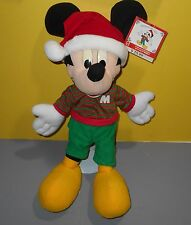 "Mattel Kohls Arcotoys 18"" Christmas Holiday Mickey Santa Stuffed Plush #69790"