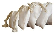 3 x 5 inches cotton Double Drawstring Muslin Bags (Natural color)-100 count pack