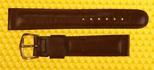 17mm Vintage BULOVA Leather Watch Strap Band BROWN Made in USA <NWoT>