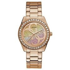 Guess G Twist Women's Japanese Quartz Gold Tone Stainless Steel Watch W1201L3