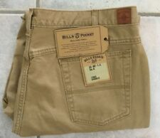NWT Bills khakis SZ 42x30 BULLARD TWILL 5 Pocket Standard Fit British Khaki $165