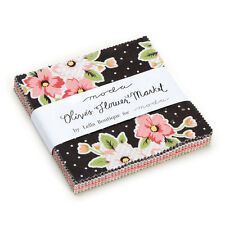 """Moda FABRIC Charm Pack ~ OLIVE'S FLOWER MARKET ~ by Lella Boutique 42 - 5"""" sqs"""