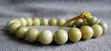 Buddha-Armband aus grünem Aragonit 16-17 cm mit Makramee-Knoten - Power-Beads.
