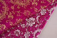 "ROMANTIC 28"" CHINA SILK RETRO. DAMASK JACQUARD BROCADE FABRIC: PHOENIX TAILS"