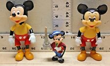 Disney Lot of 3 Mickey Mouse Action Figure
