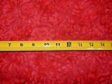 Timeless Treasures Priced per ½ yd Tonga B5011 Ruby Red Batik Cotton Fabric