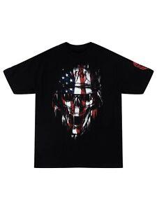 Metal Mulisha Men's Patriot Short Sleeve T-shirt American Flag Skull MX Logo Tee