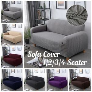 1/2/3/4 Sofa Seater Slip Cover Stretch Throw Elastic Furniture Pet Slipcover ^