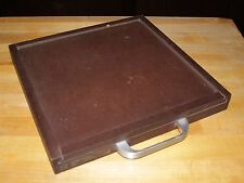 "LAMINATE BOX /CASE (originally for custom record recordings)11 5/16""sq x 1 1/4""d"