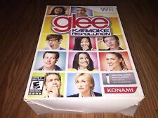NEW Glee Karaoke 🎤 Revolution Nintendo Wii Game + Microphone Konami E-Everyone