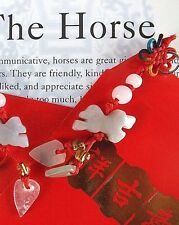 HORSE JADE CHINESE ZODIAC ANIMAL PENDANT RED ENVELOPE BIRTHDAY NEW YEAR PARTY
