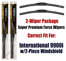 Wipers 2-Pack fits 2000+ International 9900i w/2 piece windshield - 25180x2