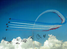 RAF Red ARROWS Display Team Multi (8) Signed 16x12 Photo Autograph COA AFTAL
