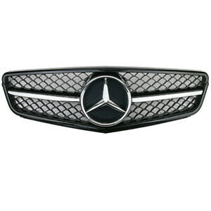 NEW Front Chrome AMG Grill Grille For Mercedes-Benz W204 C-Class 2Dr 4Dr 2007-14