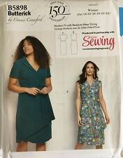 Butterick 5898 Wrap Tie Dress PLUS SIZES Adjustable Fit Ladies New Uncut Pattern