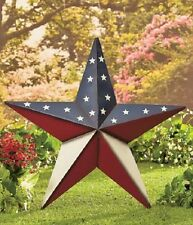 Large Metal Star Wall Art Barn Rustic Outdoor Patriotic Decoration Lawn Stake