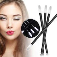 100Pcs Disposable Lip Brush Gloss Lipstick Wands Applicator Brush Makeup Tool