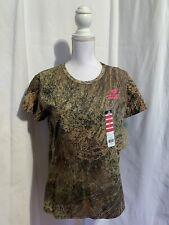 Mossy Oak Brush Women's S, L, & 2X Short Sleeve Camouflage Tee Shirt NWT