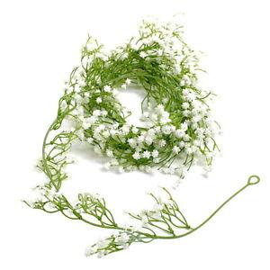 Gypsophila Garland 1,8 Meter, Plastic, Gypsophila White/Green