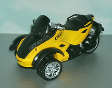 1/18 Scale Can Am Spyder Diecast 3-Wheel Front Trike Bike Motorcycle Pull Toy