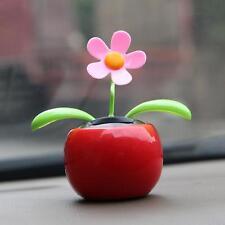 Solar Swing Flower RED Car Dashboard Window Balcony Dancing Pot Plant