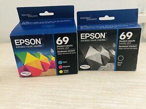 Epson 69 Color Inkjet Cartridge Pack Ink & Epson 69 Black Set EXPIRED
