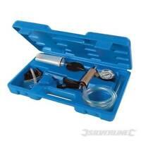 Vacuum Tester & Brake Clutch Bleeding Tool Kit Vac Pump Gauge Adaptors 16 Piece