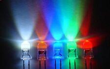 100x 5mm White Red Blue Green Yellow Amber UV LED Light