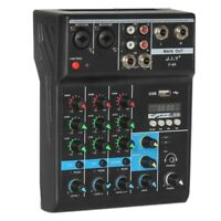 Professional 4 Channel Bluetooth Mixer Audio Mixing DJ Console with Reverb N9J9