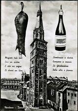 Modena Torre Ghirlandina, zampone e lambrusco, viaggiata 1963