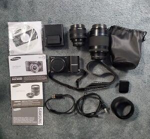 Samsung NX1000 Digital Smart Camera 20-50mm AND 50-200mm lens UV filters
