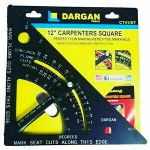"""DARGAN 12"""" 300mm Roofing Angle Marking Out Quick Speed Square Triangle, CT41/DT"""
