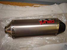 KR Tuned Titanium Left Muffler Slip On Canister NEW 1.78ID 15 3/4 L