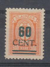 Lithuanian Occupation of Memel 1923 ( Dec ) 60c on 500m Green Overprint SG90