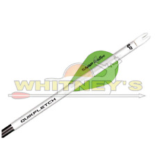 """NAP 2"""" QuikSpin Quikfletch - 6 Pack - White and Green - 60-635"""