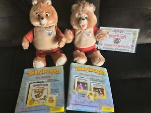 RARE TEDDY RUXPIN SIGNED W/COA (2006), PLUSH, 2 STORYBOOK CARTRIDGES w/6 BOOKS