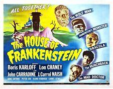 "House of Frankenstien, Movie Poster Replica 11x14"" Photo Print"