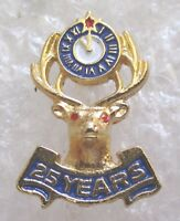 Benevolent and Protective Order of Elks 25 Year Member Award Pin-BPOE