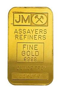JM Assayers Refiners Fine Gold 9999 1 Troy oz