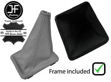 GREY TOP GRAIN  LEATHER GEAR BOOT + PLASTIC FRAME FOR VW GOLF MK1 RABBIT JETTA