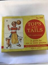 TOPS AND TAILS CARD GAME NO. 288 FERD PIATNIK & SONS VIENNA VINTAGE 1960s