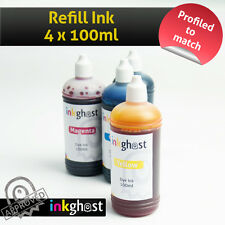 4 x 100ml Refill ink bottles for EPSON 73 73N 103 132 133 138 140 CISS