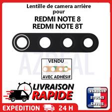 Vitre arrière caméra XIAOMI REDMI NOTE 8 8T Lentille appareil photo Lens verre