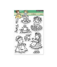 T-TIME-Penny Black Clear Acrylic Stamps-Stamping Craft-Mo Manning-Tea Party