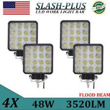 4PCS 48W LED WORK LIGHT FLOOD BEAM 4INCH LAMP OFFROAD TRUCK 12V24V FOG ATV JEEP