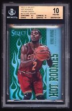 2012-13 KYRIE IRVING 1/15 HOT ROOKIE PRIZM GREEN REFRACTOR BGS 10 1/15 ROOKIE